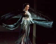 SUNSET BOULEVARD (Media Theatre): Ann Crumb as Norma Desmond, the delusional diva